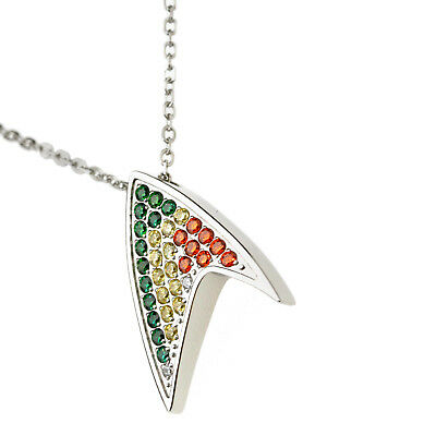 Colorful Arrow Crystal 316Stainless Steel Pendant Necklace Wedding Birth Gift