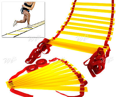 4m/8m Training Agility Speed Ladder In/Outdoor Fitness Coaching Football Kit