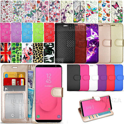 For Samsung Galaxy J6 Plus J610F Wallet Leather Case Flip Cover + Protector Film