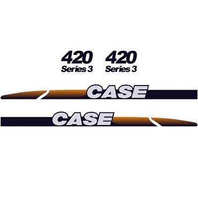 CASE 420 Decals Stickers Skid loader Repro kit
