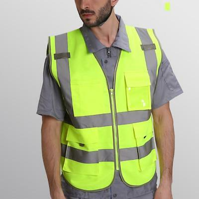 Yellow Hi-Vis Safety Vest Reflective Jacket Security Waistcoat HIGH VISIBILITY