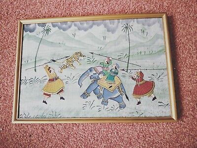 an old Oriental hand painted picture on silk