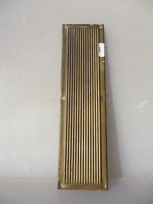 Victorian Brass Finger Plate Push Door Handle Antique Vintage Reeded Old Ribbed