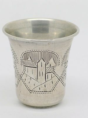 Rare 1893 Judaica Russian Hallmarked Antique Silver Kiddush Cup