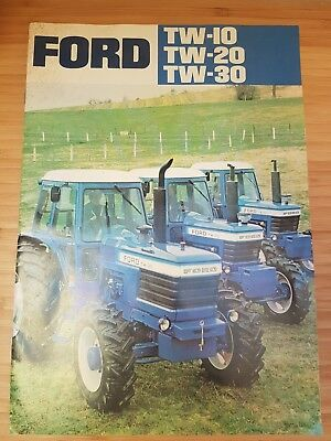 Ford Tw-30 Tw-20 Tw-30 Tractor Sales Leaflet