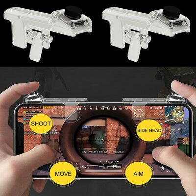 1Pair PUBG Mobile Phone Game Controller Fire Button Key Gamepad Shooter Trigger
