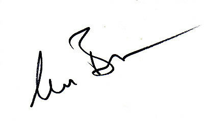 ENGLISH ACTRESS CLAIRE BLOOM HAND SIGNED 5 x 3 WHITE CARD