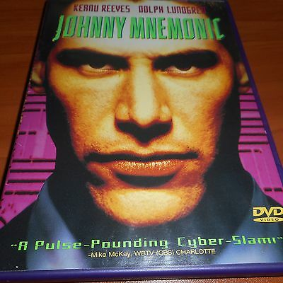 Johnny Mnemonic (DVD, 1997) Keanu Reeves Used Dolph Lundgren