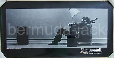 Rare Original 1988 Maxell Blown Away Guy Cassette Tape Large Promotional Poster