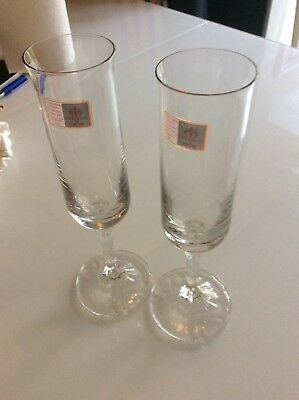 Vintage Italian Champagne Flutes With Original Stickers