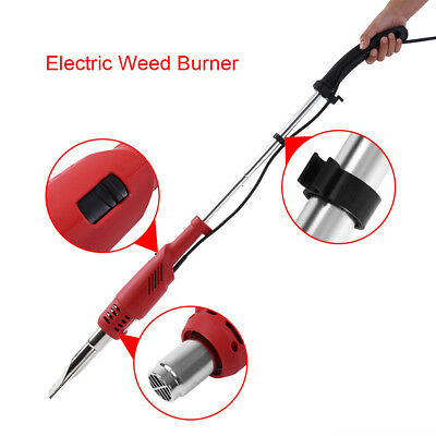 2000W Electric Weed Burner Killer Wand Hot Air Blaster Torch 60-650°c No Gas