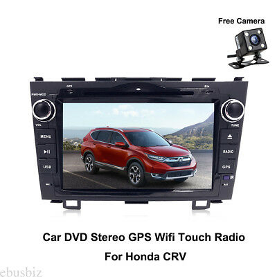 """8"""" Android 8 Car Stereo In Dash GPS Touch Wifi OBD2 Radio For Honda CRV+ SD Map"""