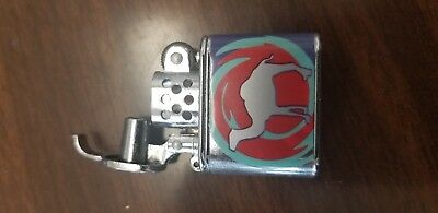 Camel Mini Lift Arm Vintage Lighter Red Blue and Silver Color