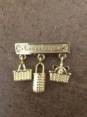 Reduced! Longaberger  Collectible Gold Pin - 3 Baskets