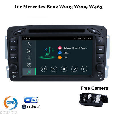 Android 7.1 Car Stereo DVD GPS Player BT Wifi DVR Video for Mercedes Benz W209