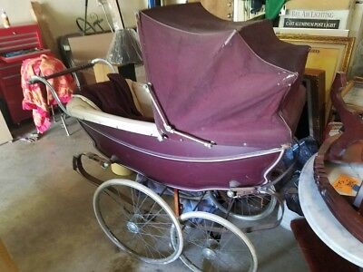 Vintage Silver Cross Baby Pram Buggy Stroller  Made in England