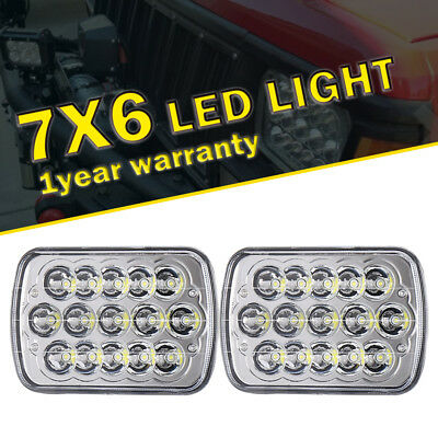 """For Chevy Express Cargo Van 1500 2500 3500 7x6"""" LED Headlight Sealed L/R lamp X2"""