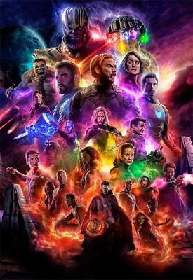 Avengers Endgame Movie Family Art Decor Print Poster 40x27 36x24 18x12""