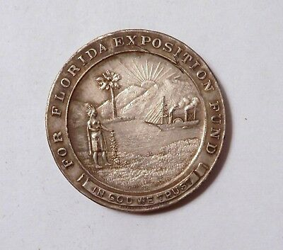 1915 Florida Fund So Called Dollar Panama Pacific Expo HK 404a Silver on Bronze