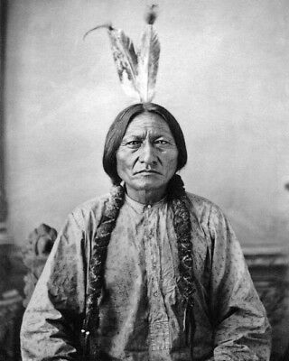 Native American Indian CHIEF SITTING BULL Glossy 8x10 Photo Sioux Print