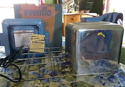 Vintage Evenflo Baby 9 Bottle Electric Sterilizer in Box with Booklet