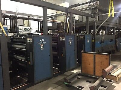 Goss Heidelberg Harris V30 4-Unit Web Offset Heatset Commercial Press System