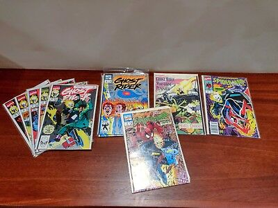Ghost Rider (1990) Lot: 4, 5, 6, 9, 10, 25, Spider-Man 7, 18, Hearts of Darkness