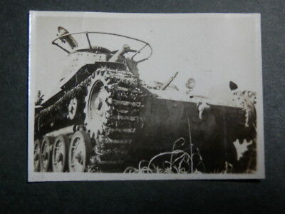 WW2 Japanese Army Picture of Type 97 Chi-Ha medium tank.Very Good