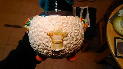 Clarice Cliff Celtic Harvest pot/biscuit barrel.