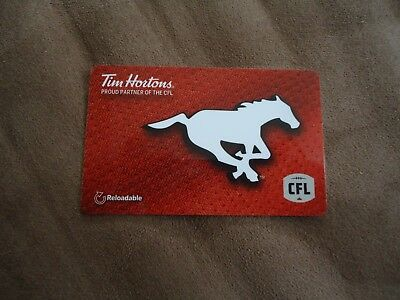 """2018 Calgary Stampeders Tim Hortons Gift Card """"Card Is Empty"""""""