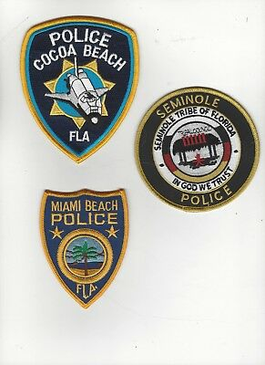 3 Different Florida Police Patches