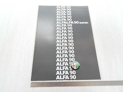 Brochure Originale Specifico Alfa Romeo Alfa 90 Super Italiano Depliant Prospekt