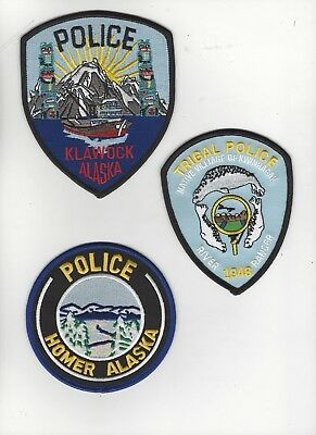3 Different Alaska Police Patches