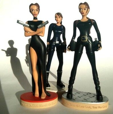 Lara Croft Tomb Raider Chronicle Figure Sammlung Tr Ps3  Lot Black Blue Dress