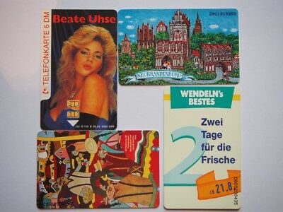 4 germany mint phonecards.,,