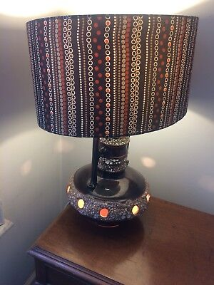 West German Or French Vintage Lamp With Shade