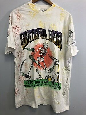 Vintage RARE 1992 Greatful Dead Summer tour Shirt Mens XL DEADHEAD