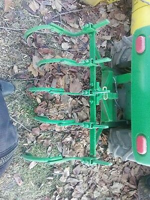 John Deere 110 112 Cultivator and Disk with homemade hitch Square fender