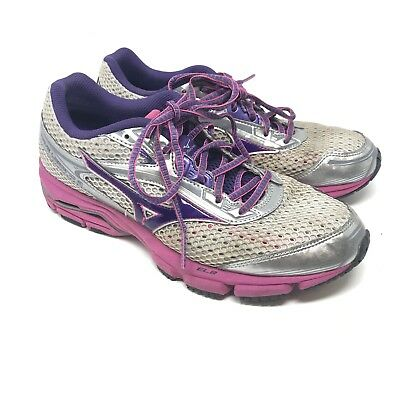 timeless design 4a49d 0a4bc Mizuno Wave Legend 3 women s running Training shoes gray pink Purple Size 9