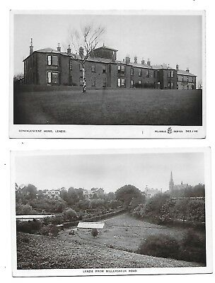 LENZIE Dunbartonshire Lot 2 early RP Postcard Convalescent Home Millersneuk Road