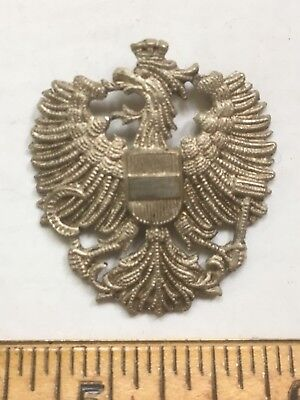 Austria Genuine Imperial Eagle Badge Over 100 Years Old