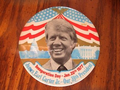 Vintage Jimmy Carter Button Pin Campaign 1977 Inauguration Day 39th President