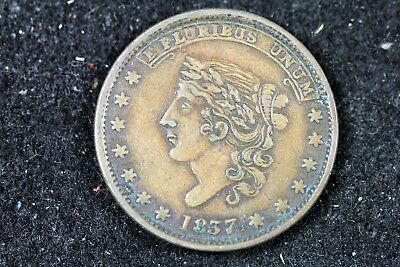 1837 - Hard Times Token Liberty/Millions for Defence,HT-49!!  #H17742