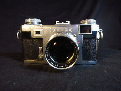 ZEISS IKON CONTAX IIA,  ZEISS T coated 50mm f/1.5 SONNAR
