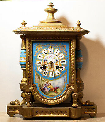 1869 PH Mourey French Clock Ormolu Japy Freres Movement Working *Reduced Price*
