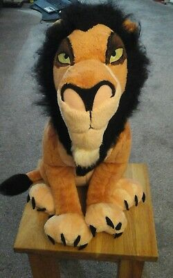 Lion King Scar /Taka rare plush - Stamped - with tag -  Disney Store