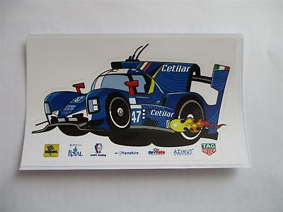 Carte Card sticker CETILAR Dallara #47 24 H Le Mans 2018 LM WEC