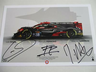 Carte Card TDS Racing Oreca #28 signed all drivers 24 h Le Mans 2018 LM