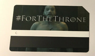 NYC Game Of Thrones Limited Edition MTA Metrocard Jon Snow