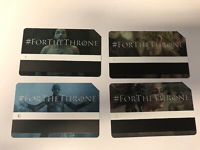 NYC Game Of Thrones Limited Edition MTA Metrocard (Entire Set of ALL 4 G.O.T.)